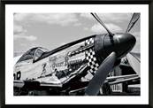 Photo noir et blanc encadrée Avion ancien Spitfire Sweet revenge