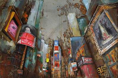 Tableau sur metal 3D Times square New York